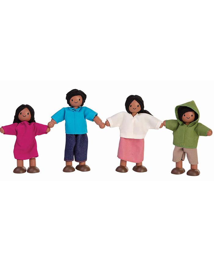 """4-tlg. Holz Puppenfamilie """"Latino"""""""