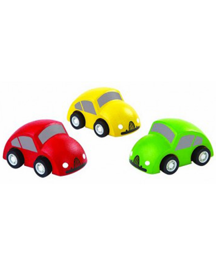 "3-tlg. Set Holz Spielzeugautos ""Miniworld"""