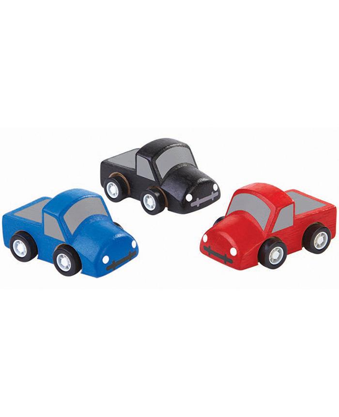 "3-tlg. Set Holz Spielzeug Lastwagen ""Miniworld"""