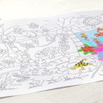 """Selbstklebende Ausmalrolle """"Dschungel & Unterwasser"""", 3m"""