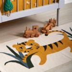 """Baumwoll Spielteppich """"Tiger"""" 140x70cm"""