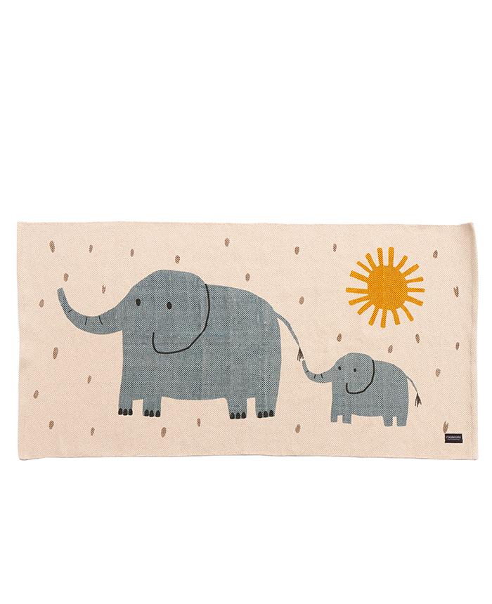 """Baumwoll Spielteppich """"Elefant"""" 140x70cm"""