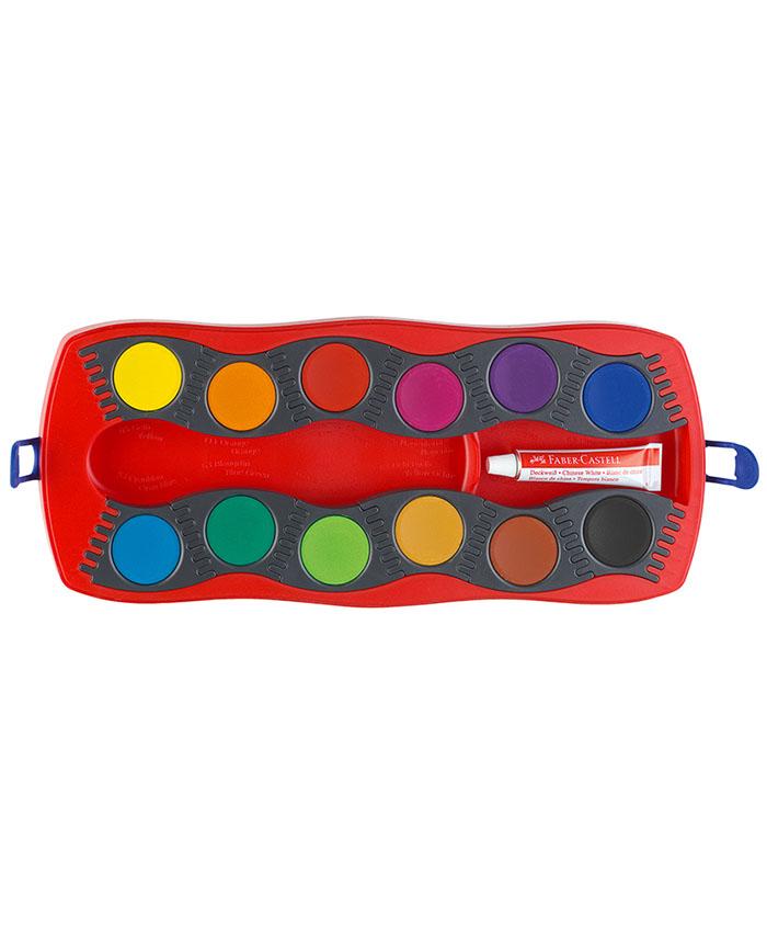 """Deckfarbenkasten mit 12 Farben """"Red"""""""