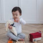 7-tlg. Puppen Fütterst