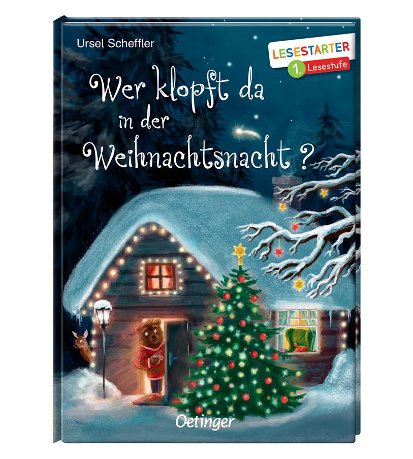"""Weihnachtsgeschichte """"Wer klopft da in der Weihnachtsnacht?"""" für Lesestarter"""